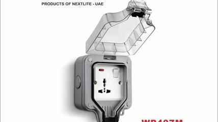 WP407M Single Switch 13A Outdoor Socket