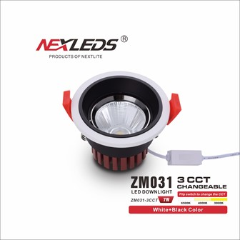 ZM031-3CCT 7W CHANGEABLE LED Downlight