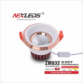 ZM032-3CCT 7W CHANGEABLE LED Downlight